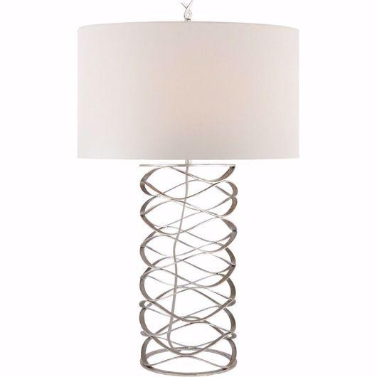 Picture of BRACELET TABLE LAMP - BURNISHED SILVER LEAF